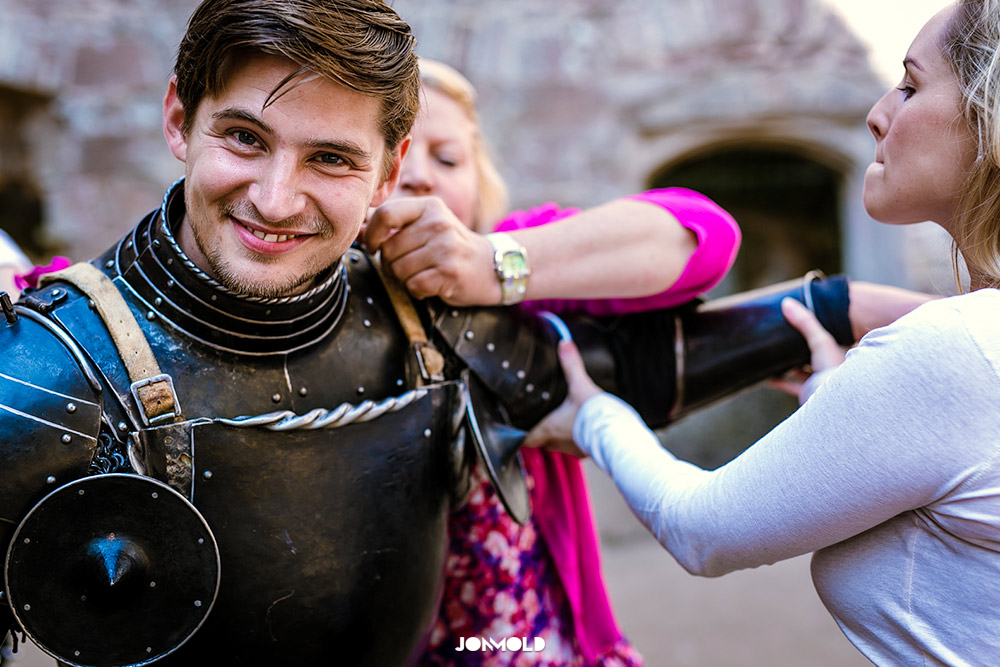 Knight Commercial Photo Shoot at Raglan Castle