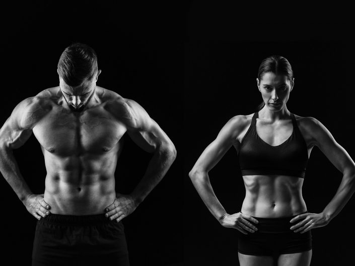 Fitness Couple male and female